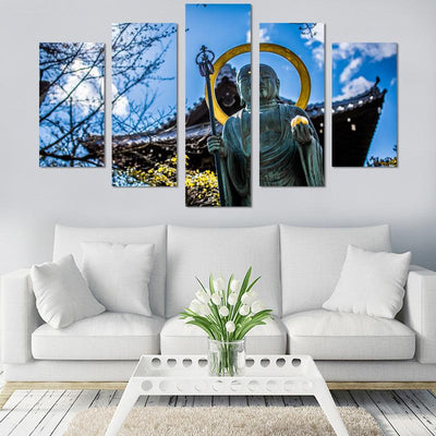 5PCS Buddha In The Sun Canvas Wall Art - Canvas Monsters