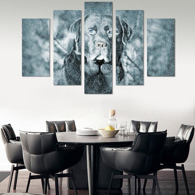 5PCS Dog In Snow Canvas Wall Art - Canvas Monsters