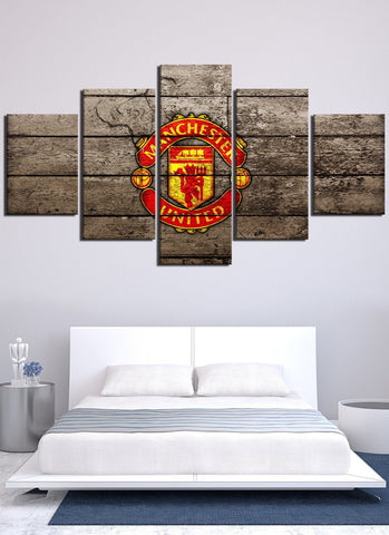 Vintage Manchester United Canvas Wall Art