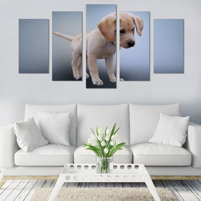 5PCS Puppy Labrador Canvas Wall Art - Canvas Monsters