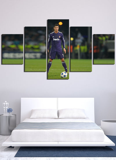 C Ronaldo Kicking Ball Real Madrid - Canvas Monsters