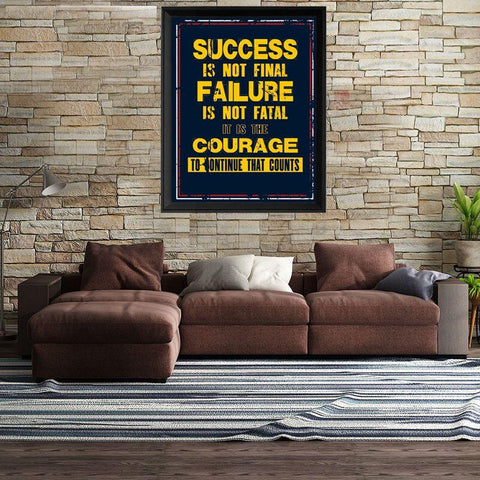 Image of Success Is Not Final Canvas Wall Art