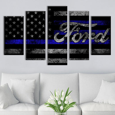 5pcs Ford American flag Canvas Prints - Canvas Monsters
