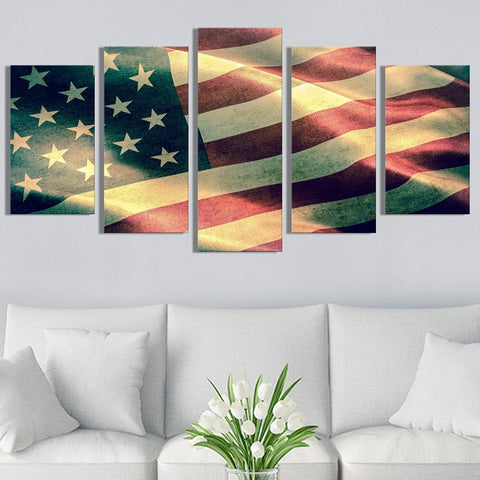 Flying American Flag Canvas Prints