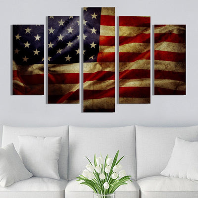Trump We The People American Flag Canvas Prints