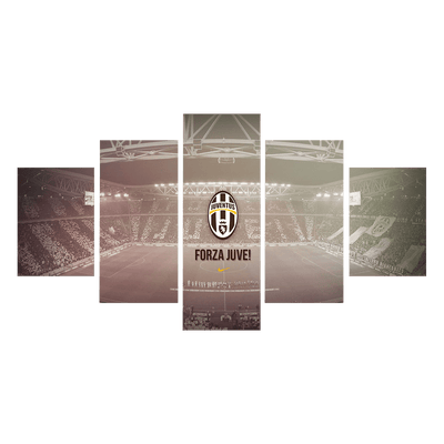Forza Juventus Canvas Wall Art - Canvas Monsters