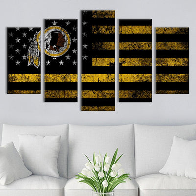 Washington Redskins American flag Canvas Prints - Canvas Monsters