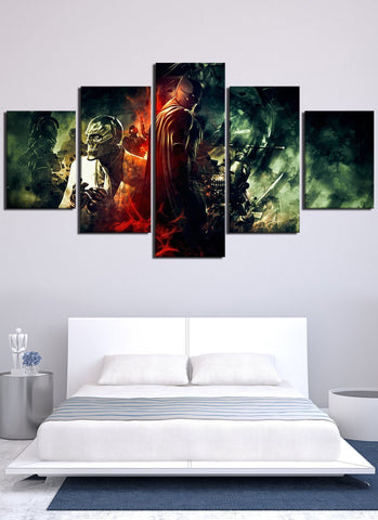 Image of Batman Versus Evil Canvas Wall Art