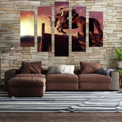 Horse Jump Canvas Wall Art - Canvas Monsters
