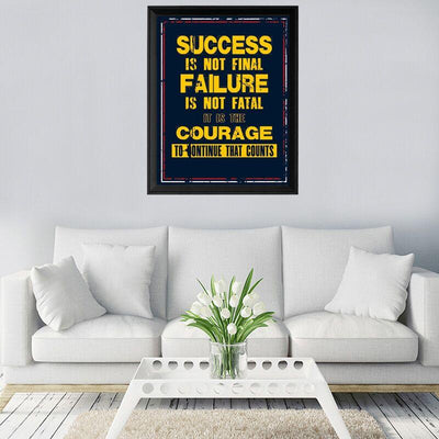 Success Is Not Final Canvas Wall Art