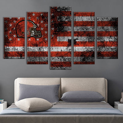 American football helmet American flag Canvas Prints - Canvas Monsters