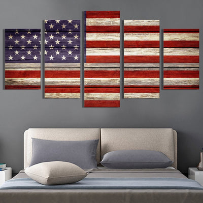 Vintage American Flag Canvas Prints - Canvas Monsters