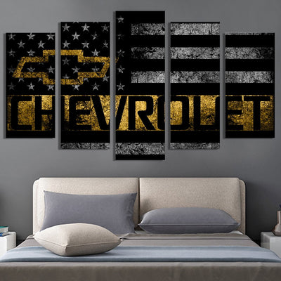 Chevrolet American flag Canvas Prints - Canvas Monsters