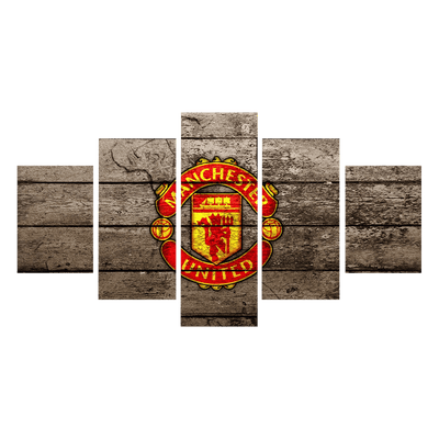 Vintage Manchester United Canvas Wall Art - Canvas Monsters