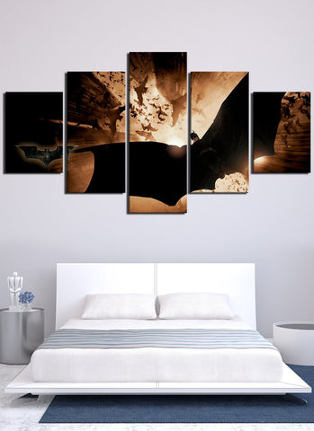 Image of Flying Batman Canvas Wall Art