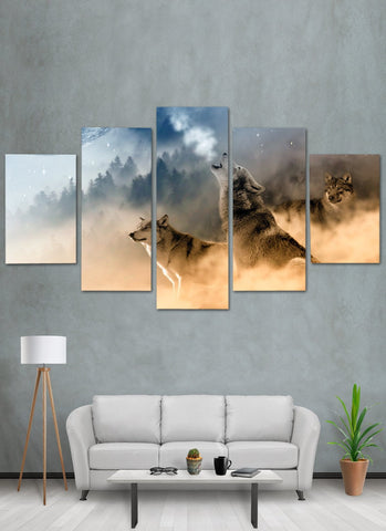 Image of Wolf In Forest Canvas Wall Art