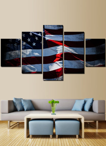 Old Glory Shinning American Flag Canvas Prints