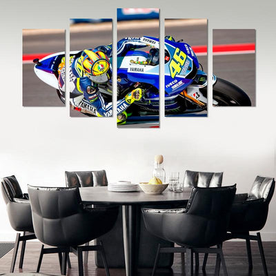5PCS Valentino Rossi Canvas Wall Art - Canvas Monsters