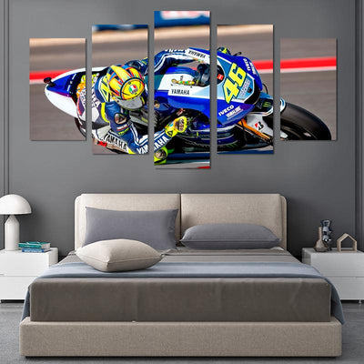 5PCS Valentino Rossi Canvas Wall Art