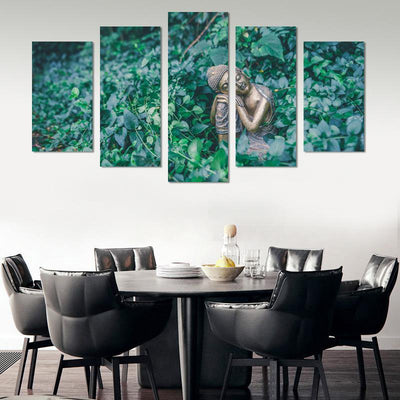 5PCS Smile Buddha In The Sun Canvas Wall Art - Canvas Monsters