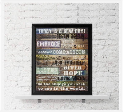 Today Is A New Day Canvas Wall Art