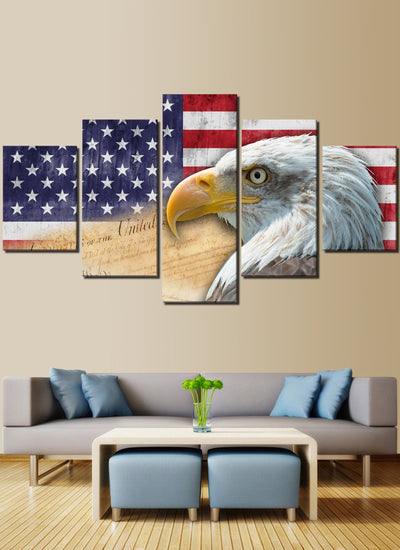 Defender Of The Freedom American Flag Canvas Prints
