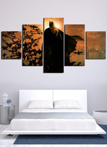 Image of Batman Stand On Top Canvas Wall Art