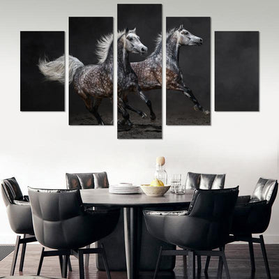 5PCS Two Horses Canvas Wall Art - Canvas Monsters