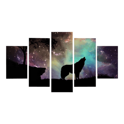 Howling Wolf Canvas Wall Art