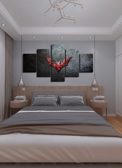 Red Batman Symbol Canvas Wall Art