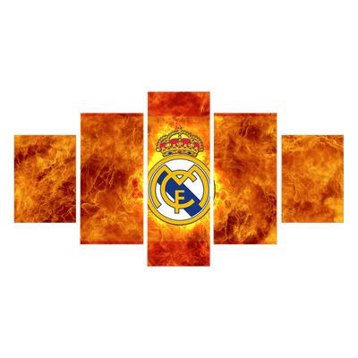 Real Madrid Is On Fire - Canvas Monsters