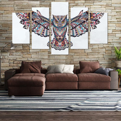 5PCS Owl Canvas Wall Art