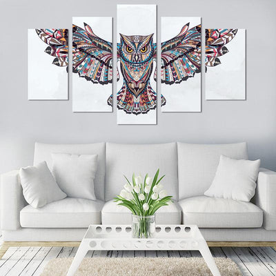 5PCS Owl Canvas Wall Art - Canvas Monsters