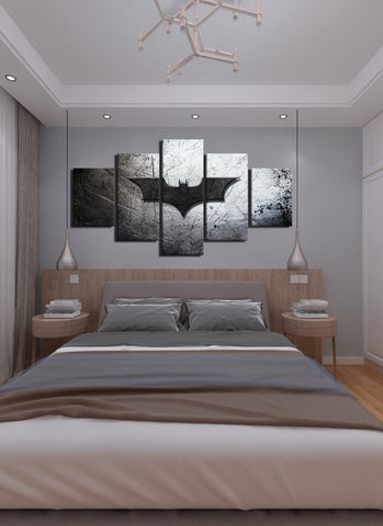 Image of Batman Symbol Canvas Wall Art