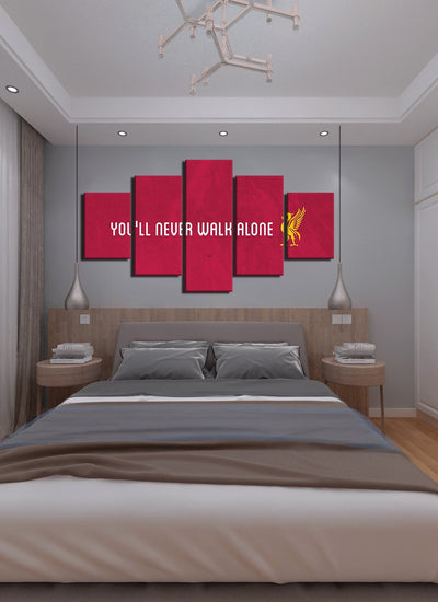 You Will Never Walk Alone Liver Pool Canvas Wall Art - Canvas Monsters