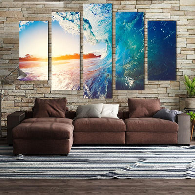 Sea Wave Canvas Wall Art - Canvas Monsters