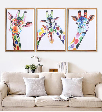 3 PCS Giraffe Wall Art