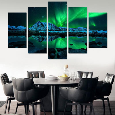 5PCS Aurora Borealis Canvas Wall Art - Canvas Monsters