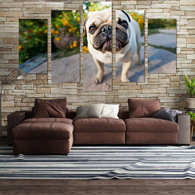 5PCS Standing Pug canvas wall art