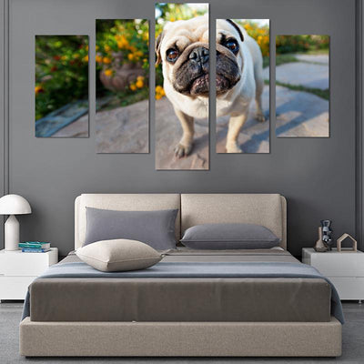 5PCS Standing Pug Canvas Wall Art - Canvas Monsters