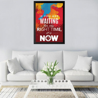 The Right Time Is Now Canvas Wall Art - Canvas Monsters