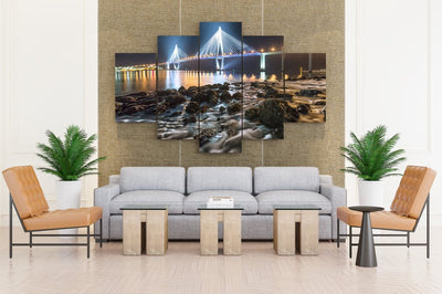 Night Time Bridge - Canvas Monsters