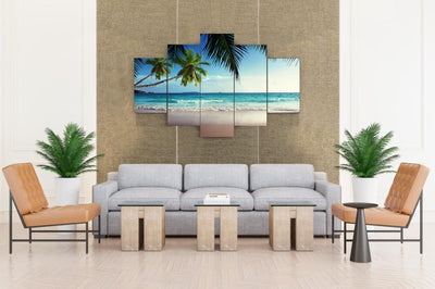Hawaii Ocean Beach Palm - Canvas Monsters