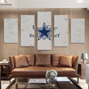 Dallas Cowboys Slogan Canvas Wall Art - Canvas Monsters