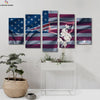 New England Patriots US Flag canvas prints