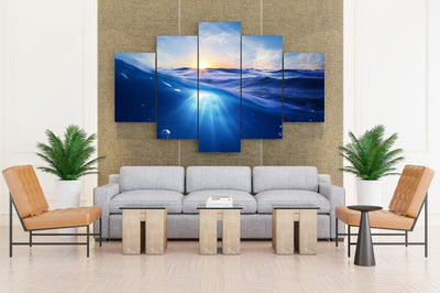 Sea Water Underwater World Nature - Canvas Monsters