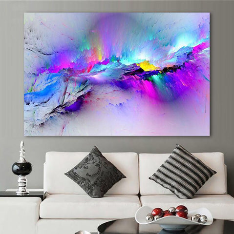 Image of Abstract Color Canvas Prints For Home Decor