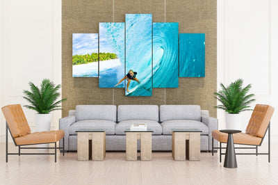 Surfing Surf Ocean Sea Waves Extreme Surfer - Canvas Monsters