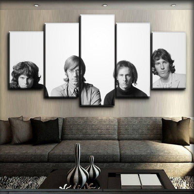 The Doors - Classic Black And White - Canvas Monsters