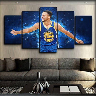 Stephen Curry - Blue Power - Canvas Monsters